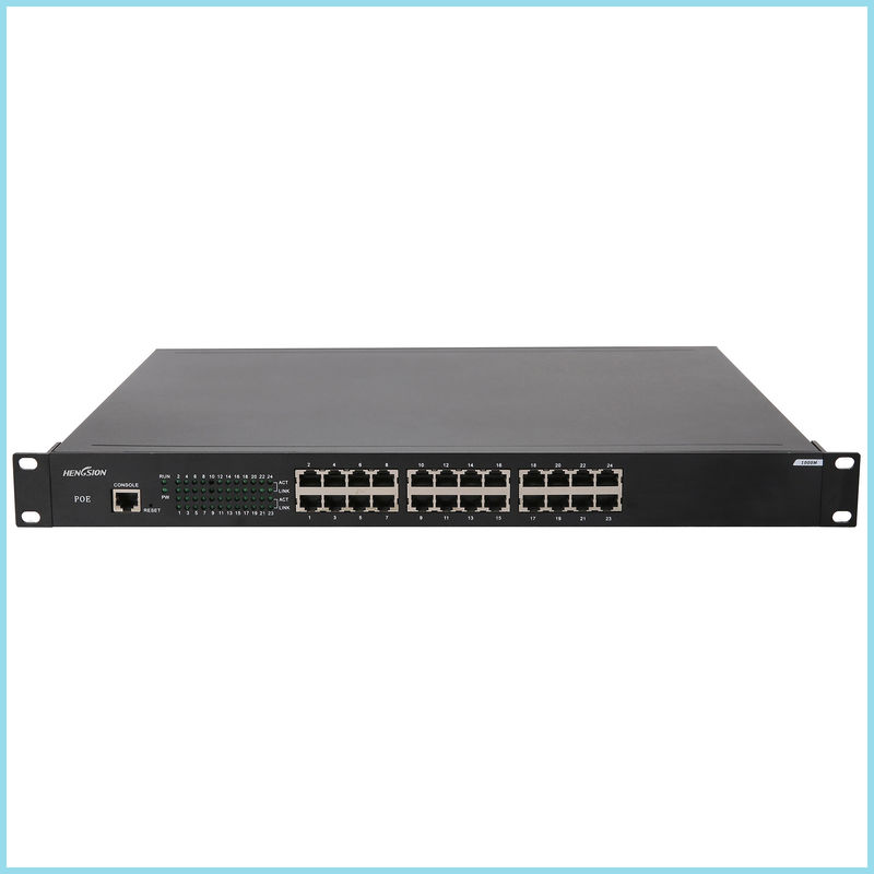 Industrial grade 24 port Gigabit POE Switch 24 1000M TX POE port fiber port switch